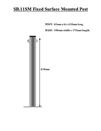 Eyelet Post Zinc Coated-Sturdy & Fixed  - Bolt Down or Concrete In image