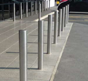 Bollards Plain Stainless Steel - 900mm above ground LOWEST