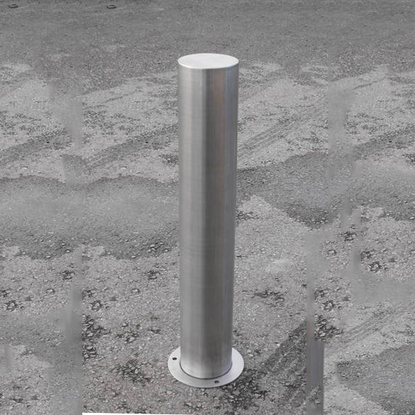 Fixed Bollard Stainless Steel Surface 1000mm Above