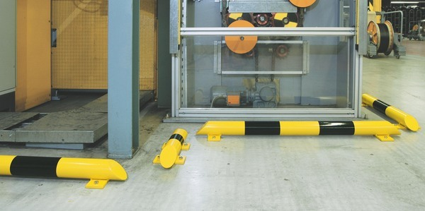 Collision Protection Barriers - Low Profile for easy pedestrian access. image
