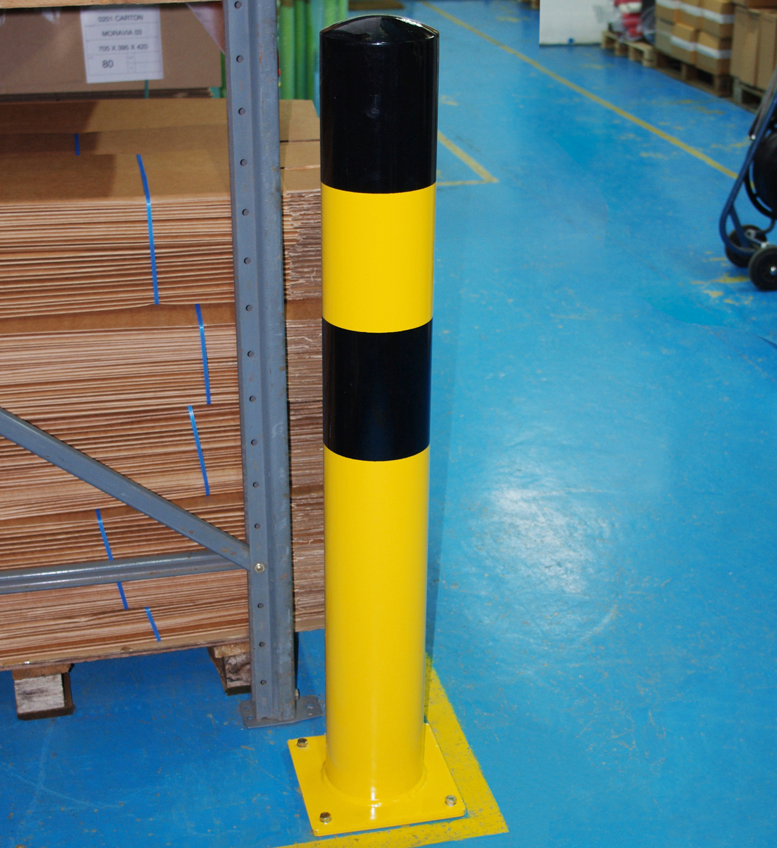 Steel Bollard Extra Tall Heavy Duty - Hi Viz. designed to protect property. image