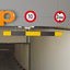 Height Restrictor Barrier Bar (Aluminium) Reflective Panels comes with 2 meters of chain. image