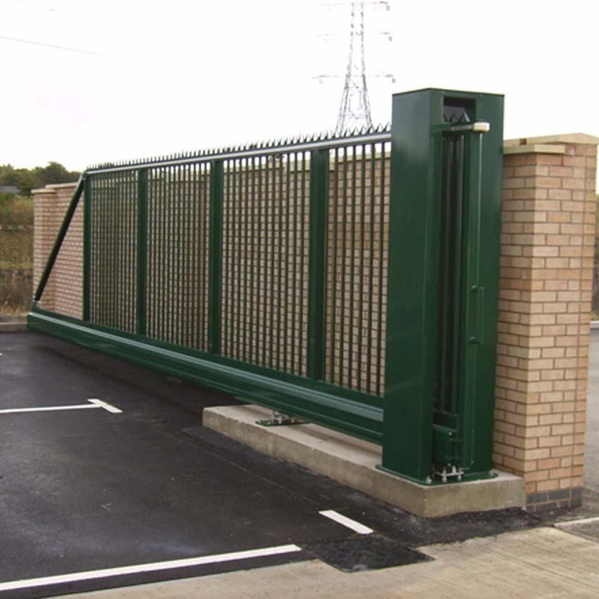 Manual Cantilever Sliding Gate New Lower Price P3896 on Custom Metal Gate Modern