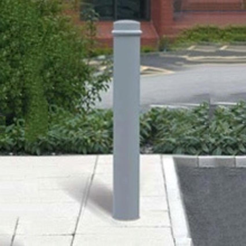 Bollard Mild Steel (114-168mm DIA) 1000mm above ground One Ring - Marshalls. image