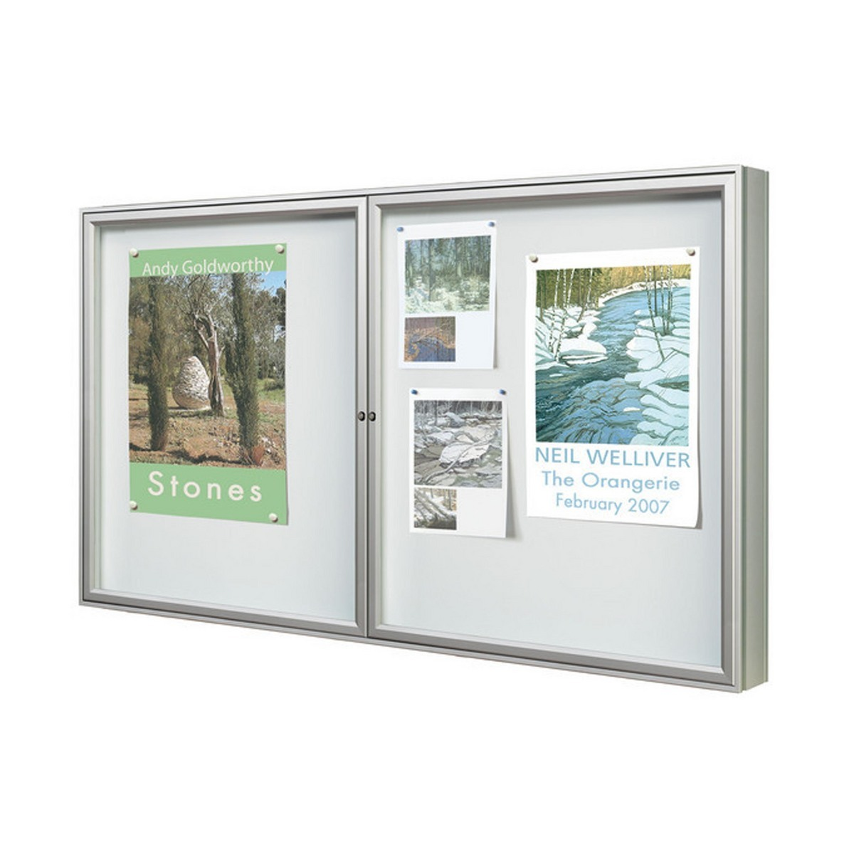 Poster Display Case - Dual Door, large single-sided . image