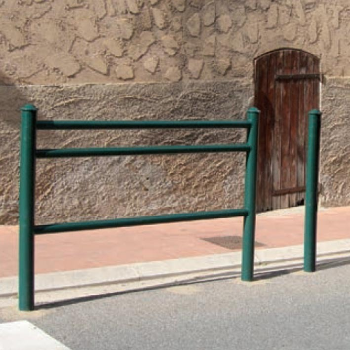 Railing  for separating pedestrian with traffic -Modern design-Meets Council requirements image
