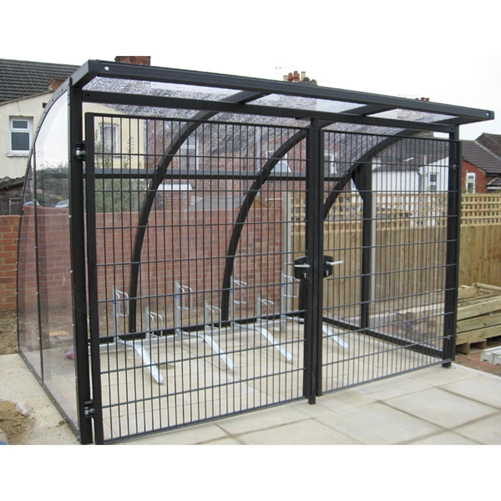 Secure Bike Shelters : Cycle shelter boston modular can be made as big you