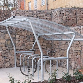 Cycle Shelter  Modular & Free-standing, single sided