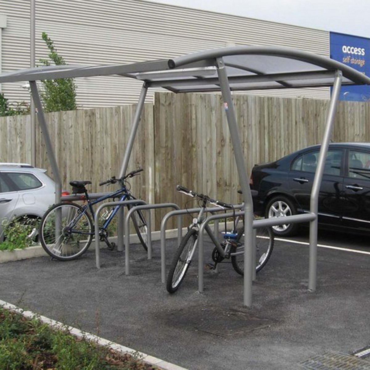 Bike Parking Shelters : Bike shelter strong canterbury for all environments