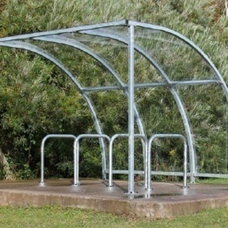 Cycle Shelter  Modular & Galvanised against rust. Easy to  Install