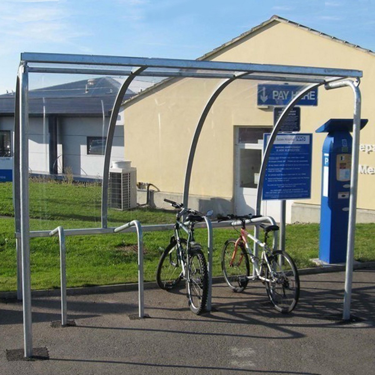 Bike Parking Shelters : Vs bike shelter includes cycle stands easy to install