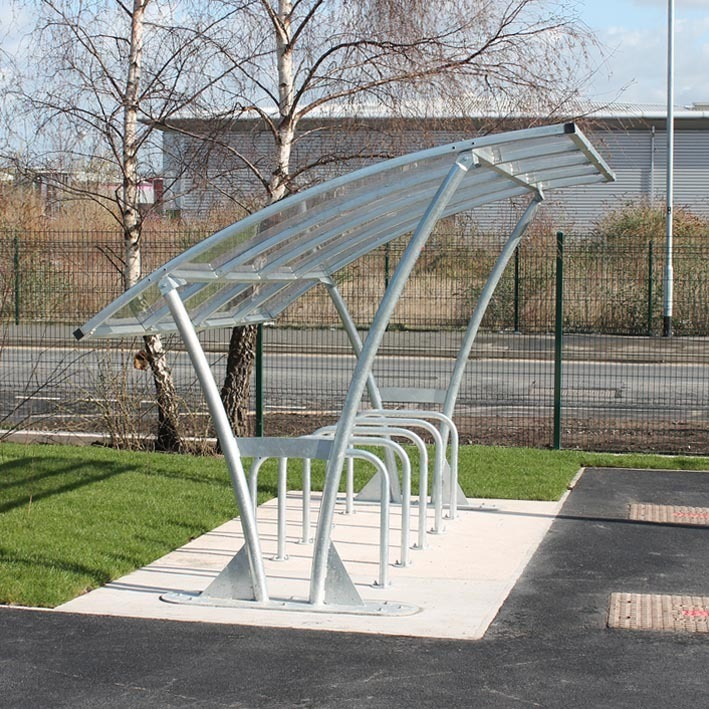 Bowland bike shelter