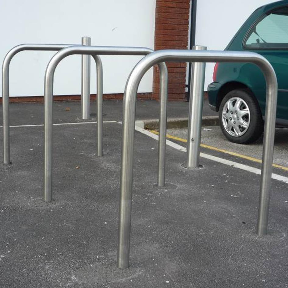 Stainless Steel Sheffield Cycle Stand Root Fixed