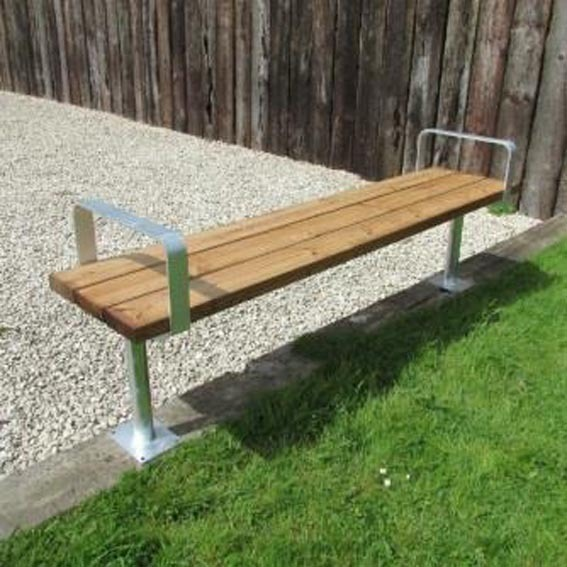 Kensington backless bench