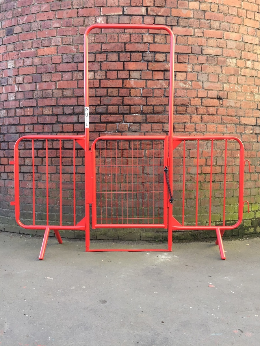 Crowd control barrier pedestrian walkthrough 2m high 2 5 for Fixed price house build