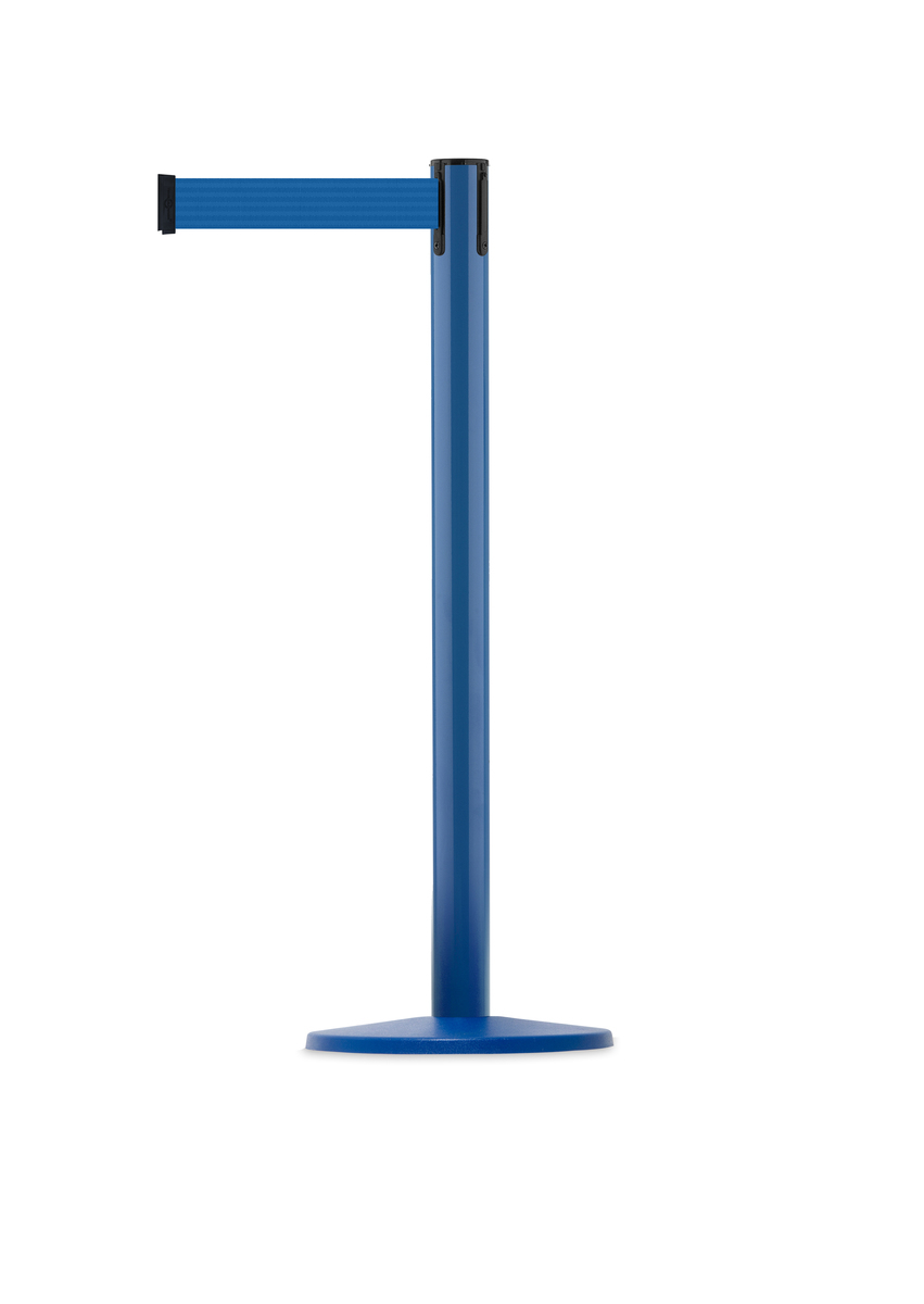 Tensabarrier® Retractable Coloured barrier Advance Post - 2.3m & 3.65m webbing image