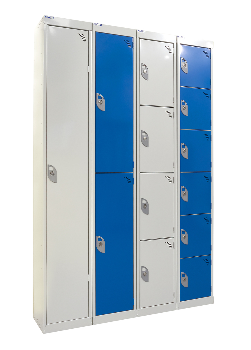 Express lockers  light grey   blue