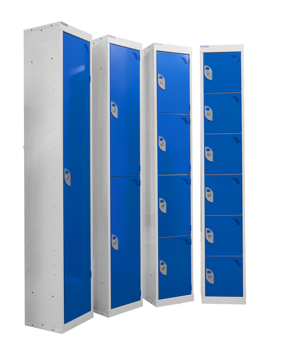 Blue lockers local fire alarm
