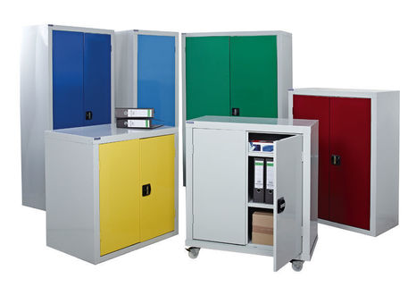 Cupboards for Workplace - Floor standing, wall mounted or mobile cupboards.