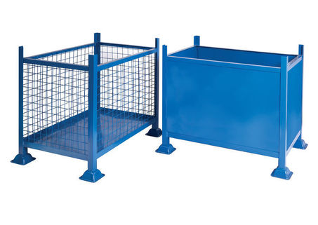 Box Pallets, Industrial multi-purpose containers-Mesh or Steel sides