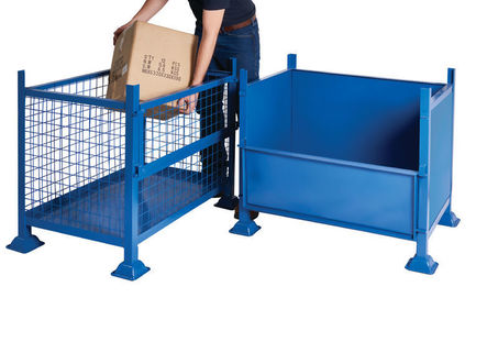 Pallets Box-Industrial container with Half-Drop Side .Choice of sizes