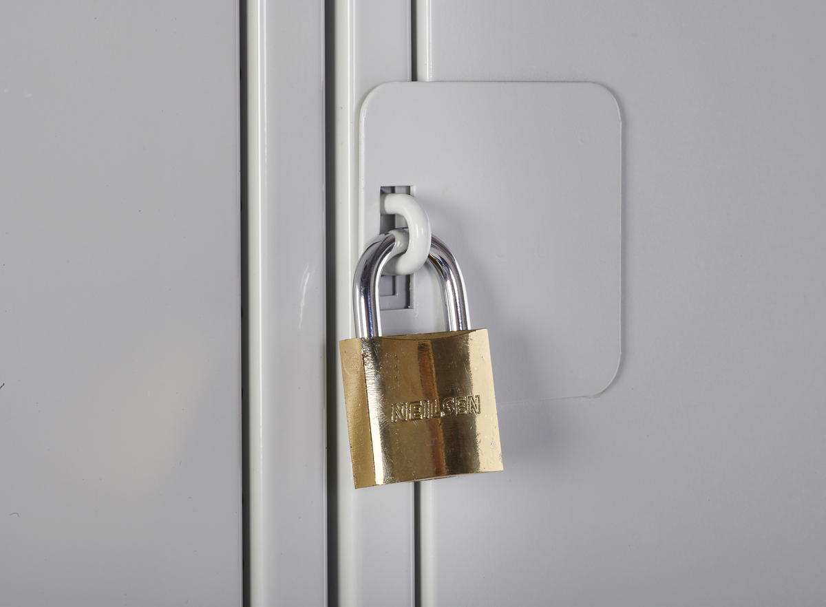 Lockers With Padlock Safely Store Items And Secure With