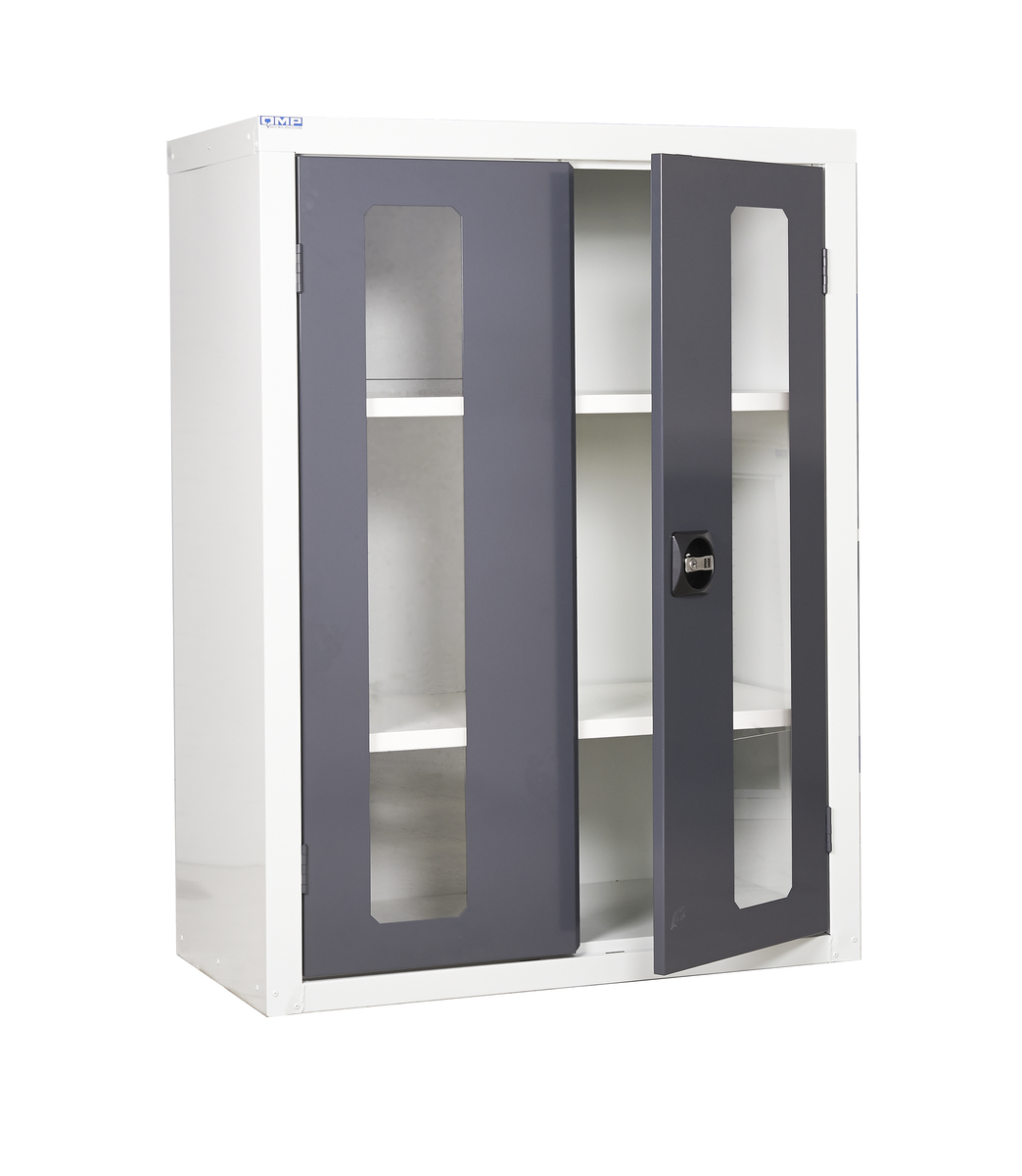 View more images  sc 1 st  Barriers Direct & Cupboards with Vision Door - High quality perspex door allows you to ...