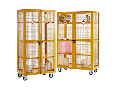 Hazarous Boxwell Trolleys - To store harmfull substances correctly within the workplace