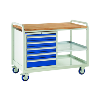 Tool Cabinet Trolley Single  -EUROSLIDE 900MM- Easy access to tools whilst on the move