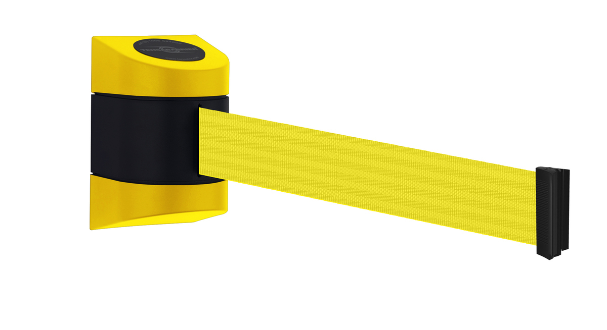 Tensabarrier® Midi Wall Mounted Retractable Barrier  - 4.6m webbing - Standard Fixing - Wall Clip Provided image