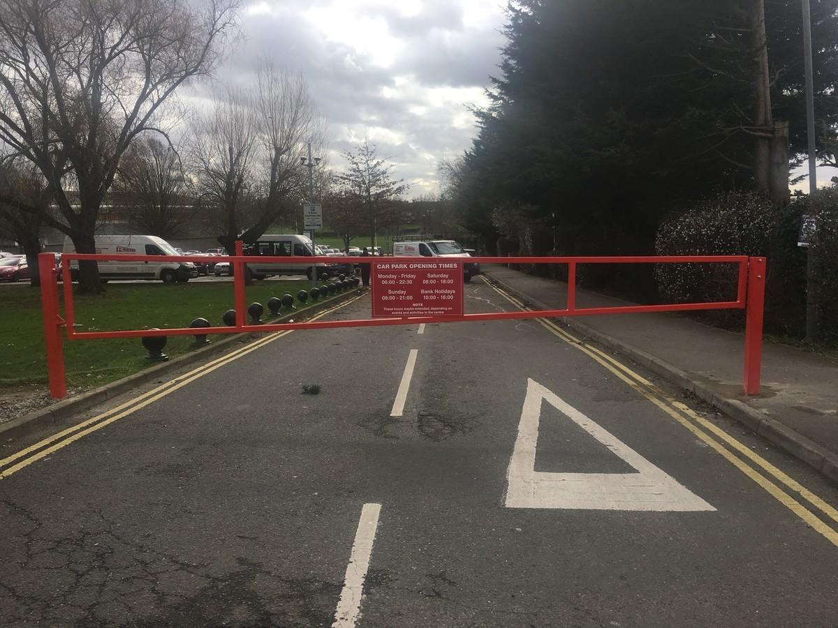 Manual parking lot gates bing images