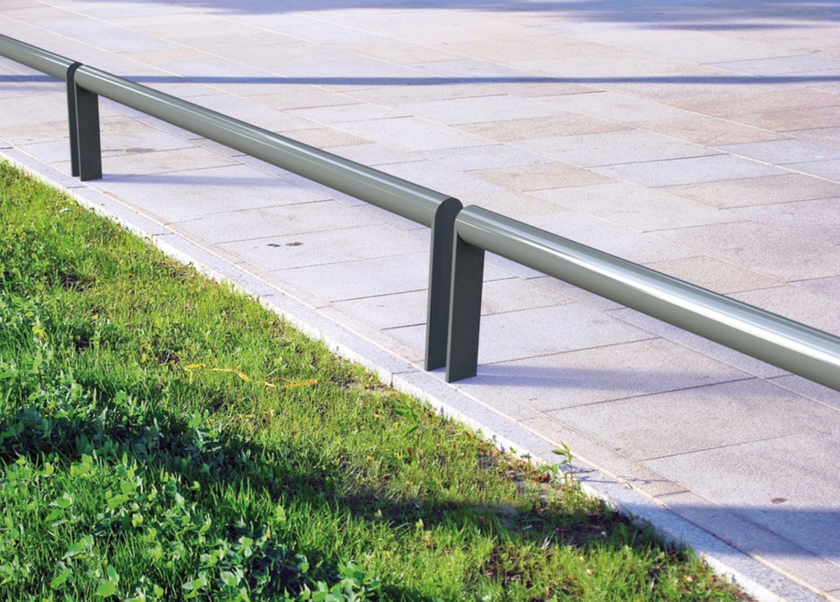 Security Rail for delineation or Motorcycle parking  image