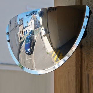 Driveway Exit Mirrors - allow a greater distance of visibility than standard driveway mirrors - VIALUX®