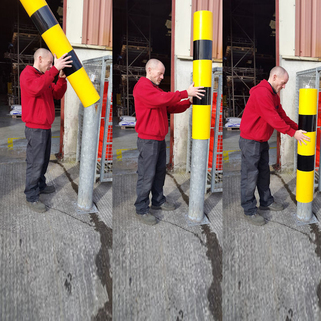 Bollards Covers-Bollards Sleeve to Protect Steel Bollards from weathering and erosion