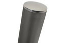 Bollard Steel with Stainless Steel top for urbane and residential spaces