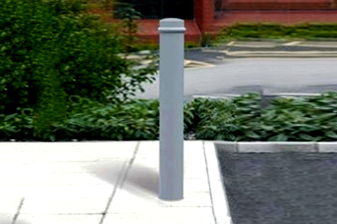 Bollard Mild Steel (114-168mm DIA) 1000mm above ground One Ring - Marshalls.