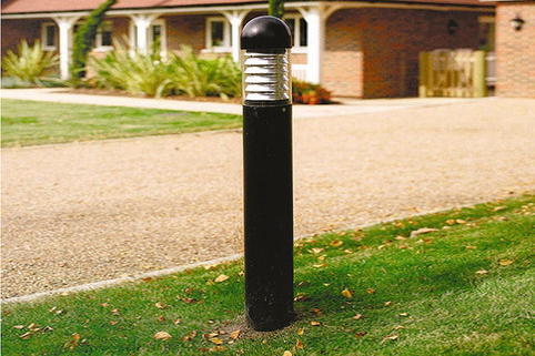 Illuminated Bollard  Steel Round Fixed from Marshalls. Perfect for Commercial use. Low Maintainance.