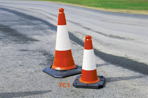 Traffic Cones (Pack of 5) Suitable for Public Roads. Various styles & sizes with optional Chain Kit