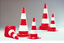 Warning Cones Fluorescent (Pack of 5) with optional Chain attachment KIT-Off Road image