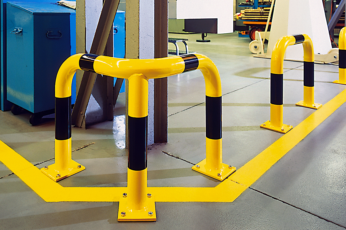 Corner Protection Guards (Steel) designed to protect property and machinery. · Barriers Direct
