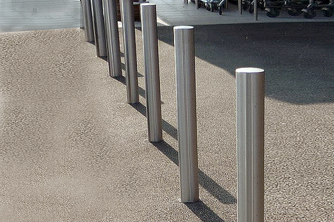 Bollards Plain Stainless Steel - 750mm above ground LOWER PRICES