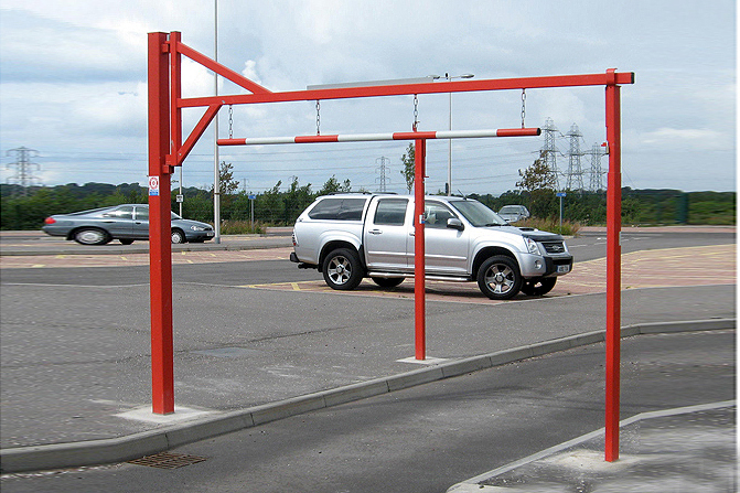 Height Restrictor Barrier -Swing Opening, Galvanised image
