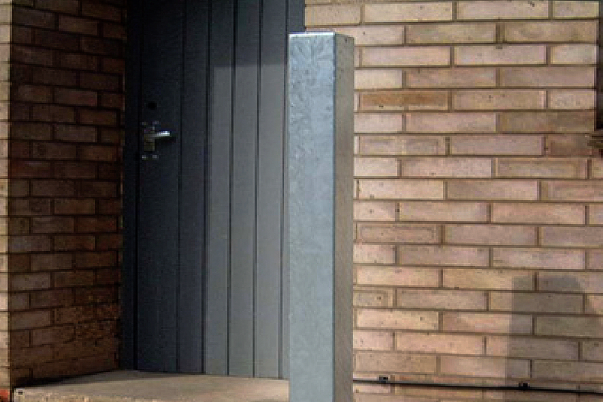 Bollard Steel (50-150mm Square) 750mm above ground - Strong Galvanised  image