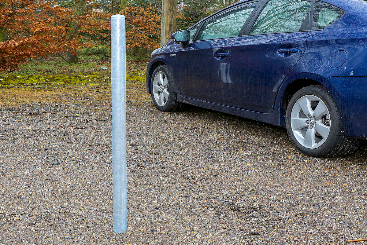 Bollards Steel (60-168mm DIA) 1000mm above ground - Domed Top (client recommended) image