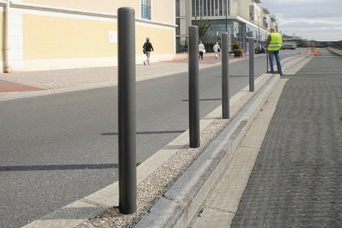 Bollards Steel (60-114mm DIA) 1000mm above ground - Domed Top - Galv & Painted