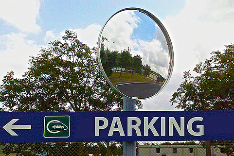 Security Mirrors for Classic Blind Spot in road, parking, industrial, warehouses etc - VIALUX®