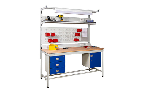 Workbenches-Square Tube frame-Versatile as used in assembly/production/light engineering