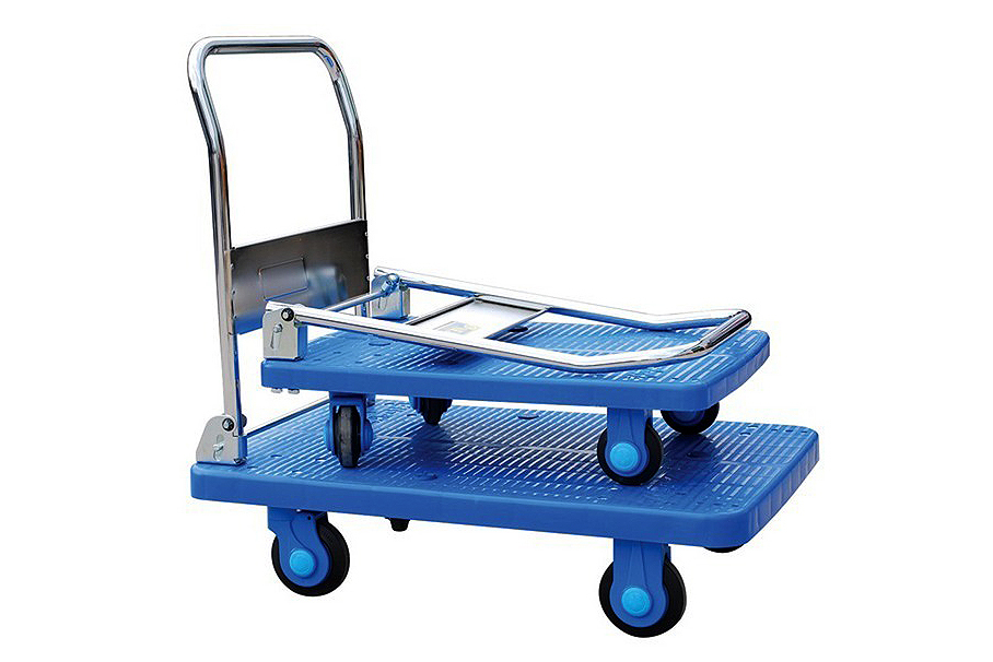 Plastic base folding trolley 1