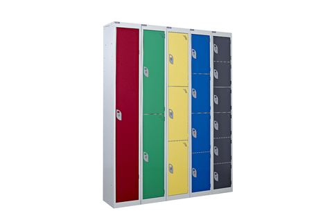 Lockers 6ft tall-High quality- Most popular - Six sizes available- from 1 to 6 compartment- Choice of colours