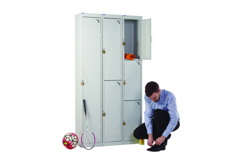 Lockers with Padlock - Safely store items and secure with own padlock